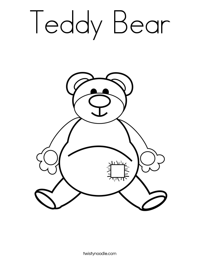teddy bear heart coloring pages - photo#30