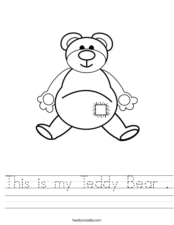 This is my Teddy Bear . Worksheet