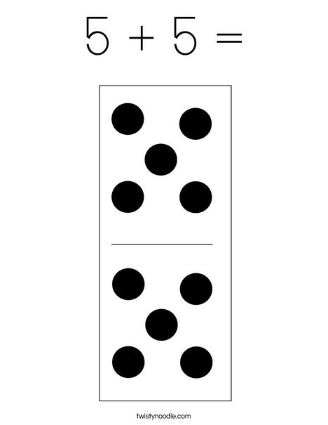 Domino Ten Coloring Page