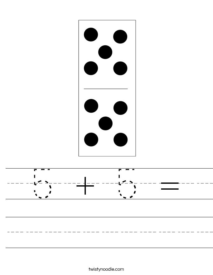 5 + 5 = Worksheet