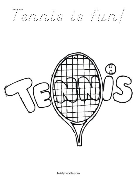 Tennis 1 Coloring Page