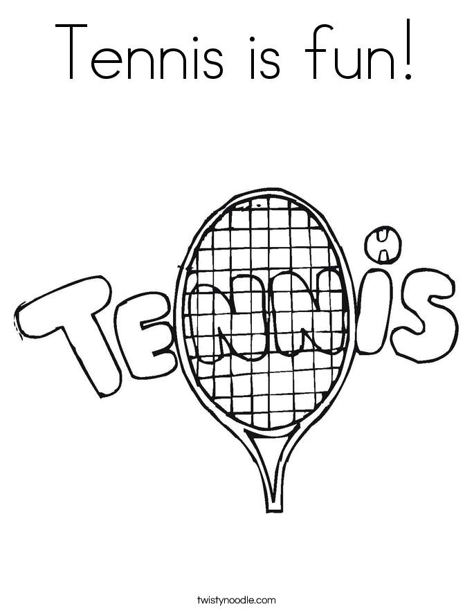 Tennis is fun! Coloring Page