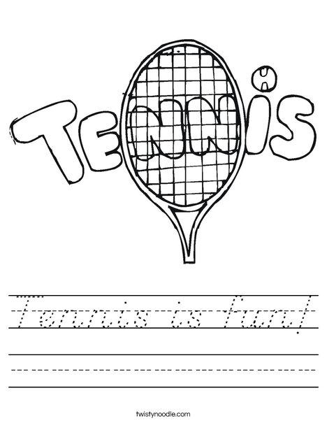 Tennis 1 Worksheet
