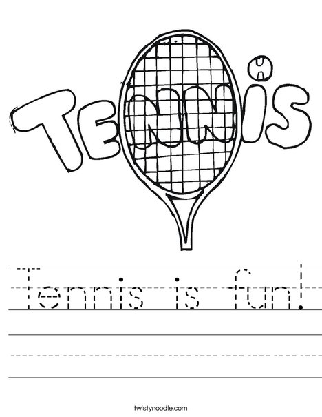 Tennis 1 Worksheet