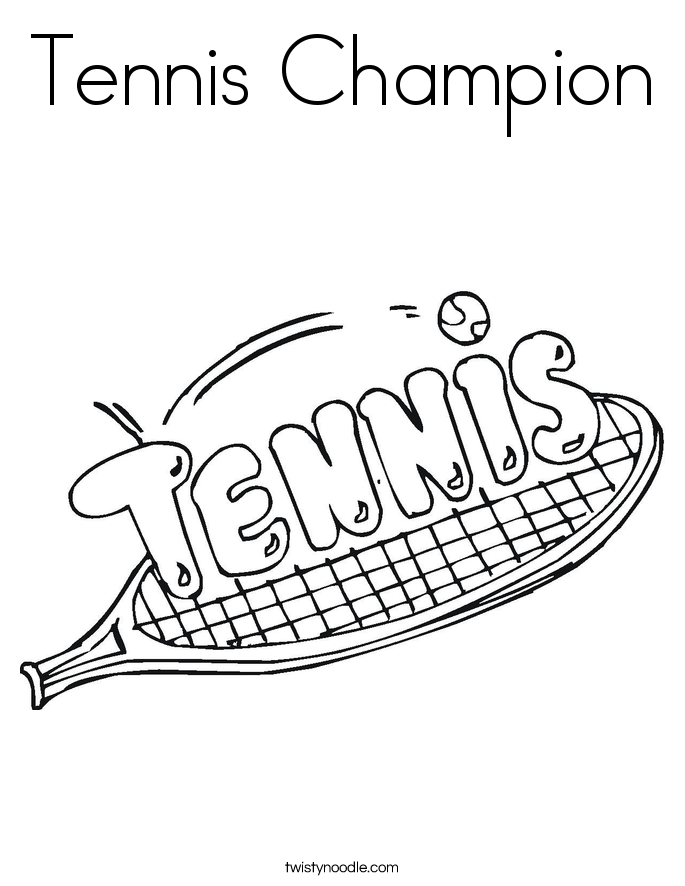 Tennis Champion Coloring Page