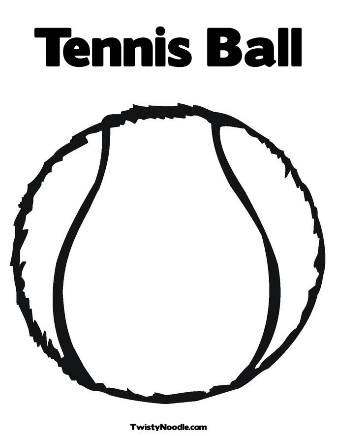 tennis ball coloring page - ball for colouring