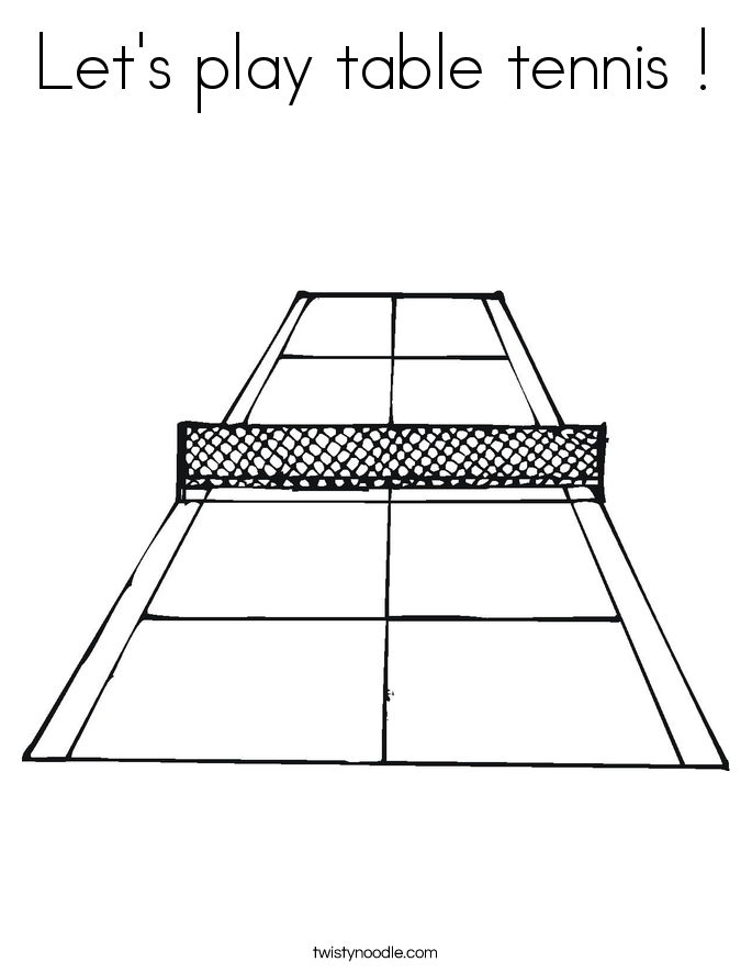 Let's play table tennis ! Coloring Page