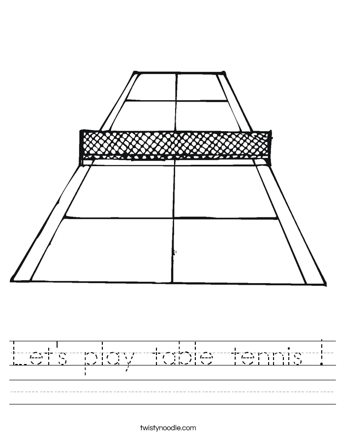Let's play table tennis ! Worksheet
