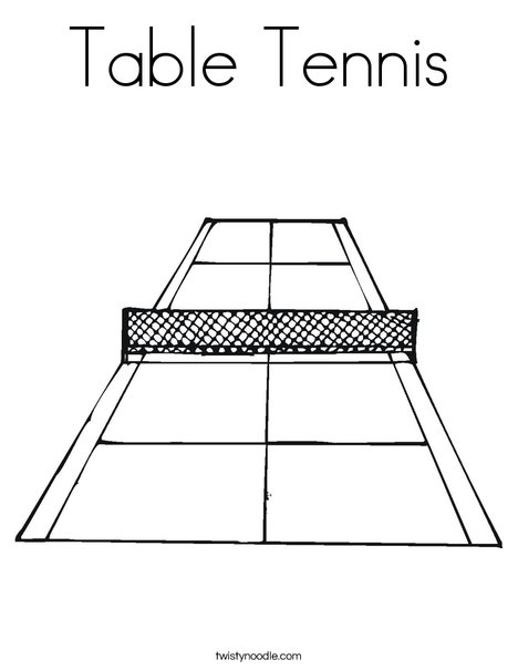 Tennis Court Coloring Page
