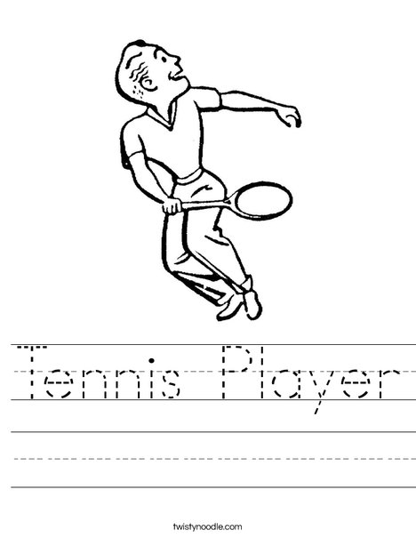 Tennis Player Worksheet