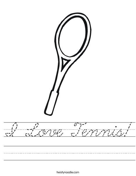 Tennis Racket Worksheet