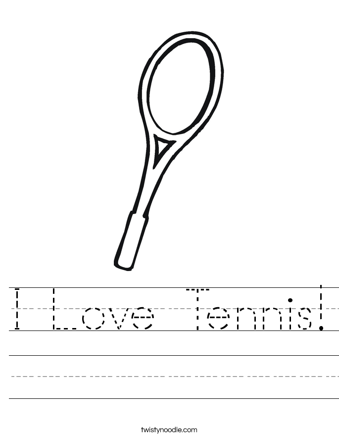 I Love Tennis! Worksheet