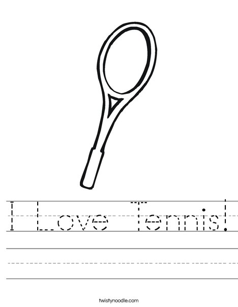 Tennis Racket Worksheet