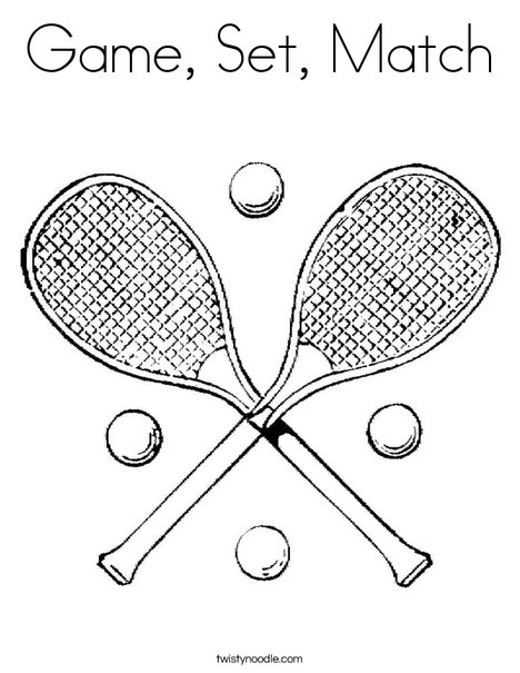 Tennis Rackets Coloring Page