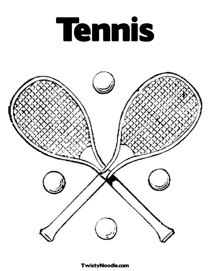 Tennis Racket Coloring Coloring Pages Tennis Coloring Pages