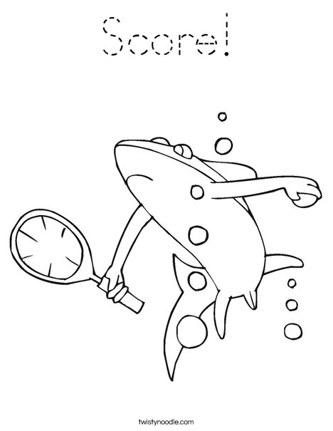 Tennis Shark Coloring Page