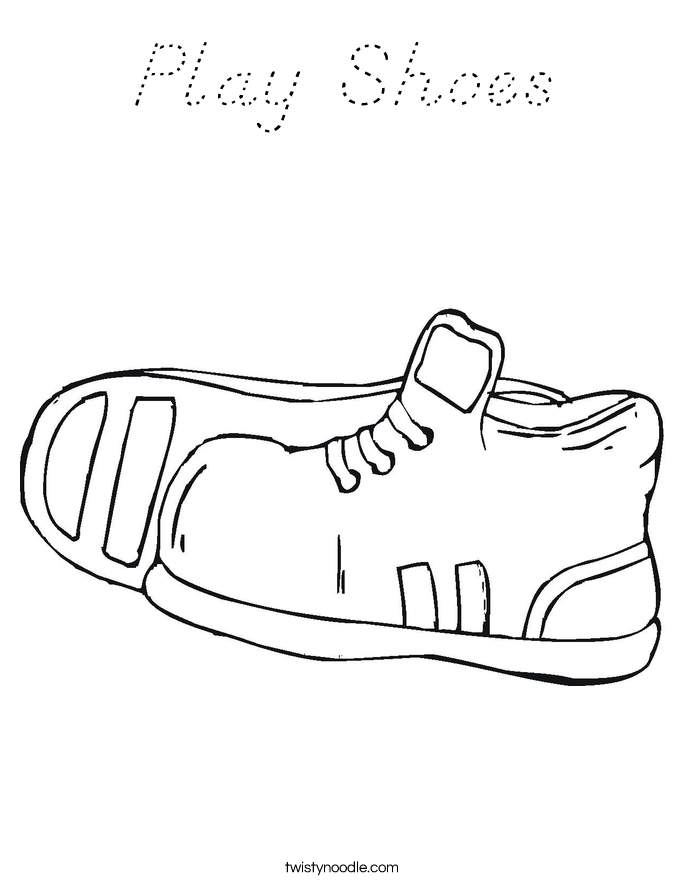 Play Shoes Coloring Page