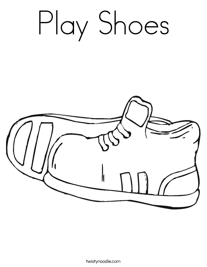 Play Shoes Coloring Page Twisty Noodle