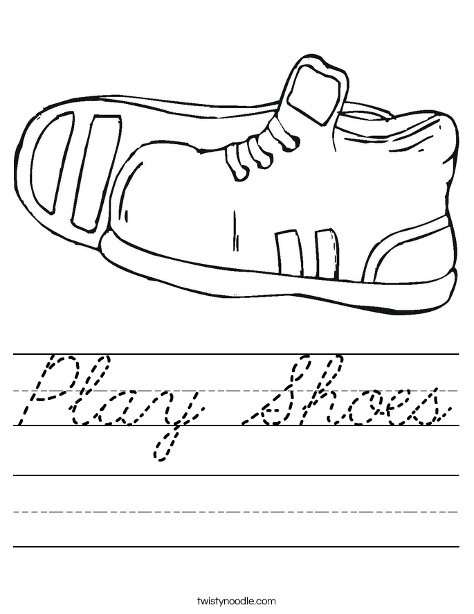 Play Shoes Worksheet