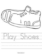 Play Shoes Handwriting Sheet