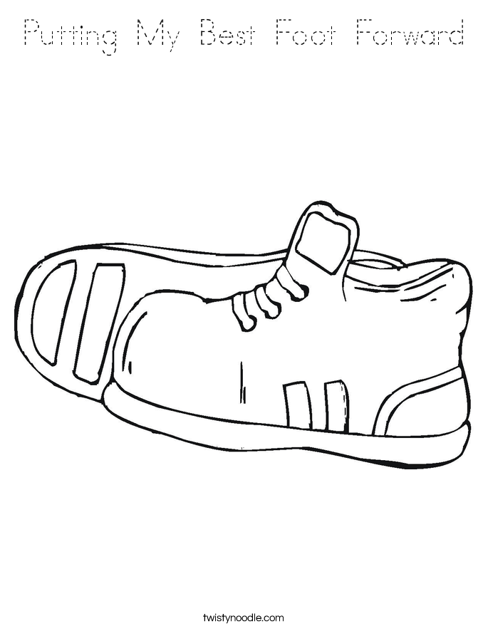 Putting My Best Foot Forward Coloring Page