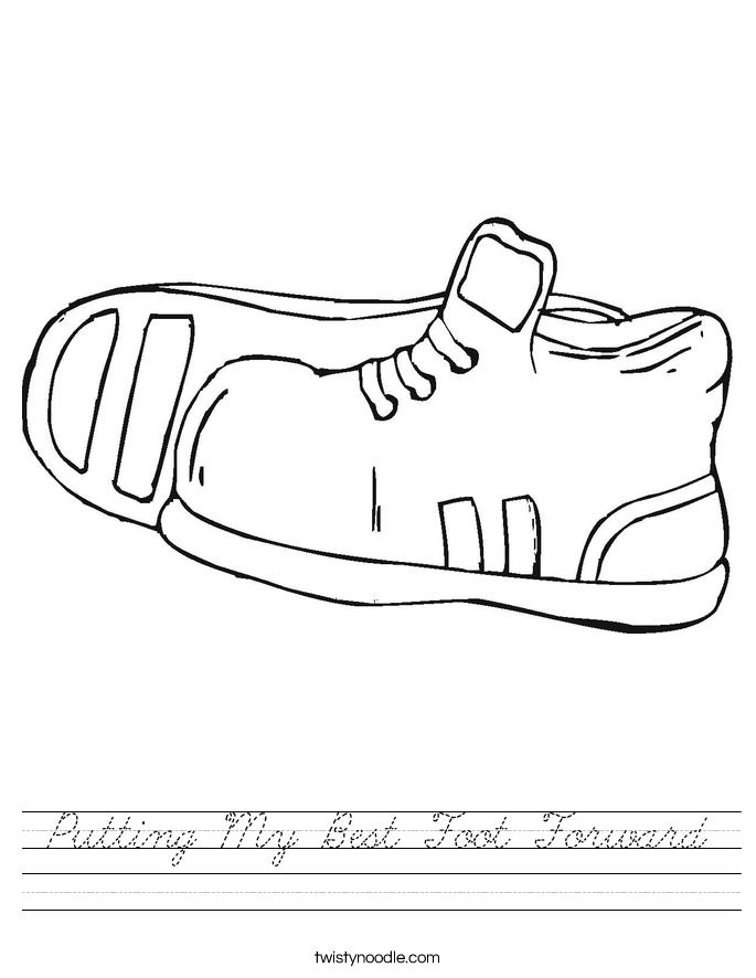 Putting My Best Foot Forward Worksheet