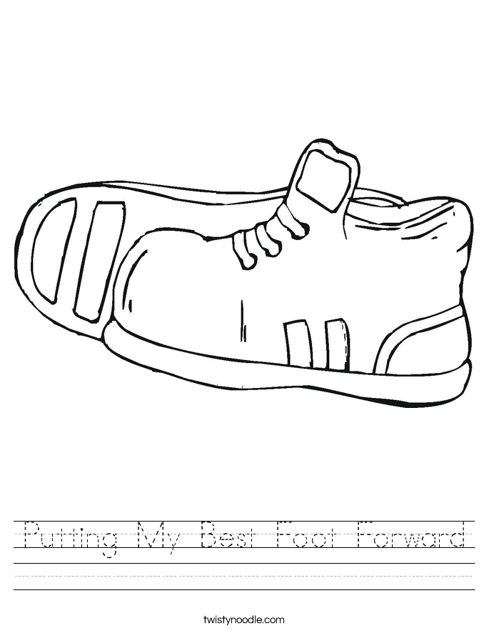Putting My Best Foot Forward Worksheet