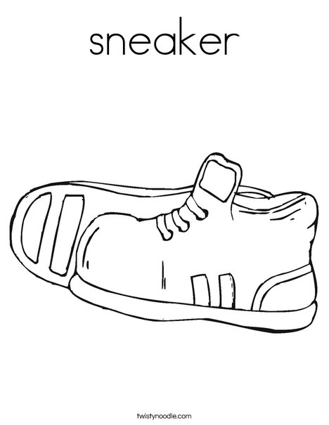 Sneaker Coloring Page - Twisty Noodle