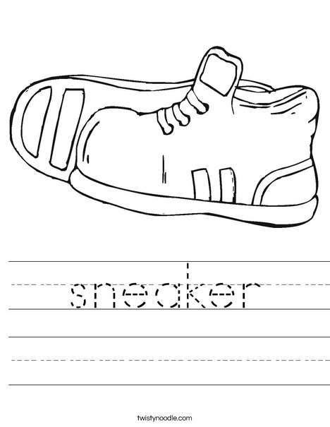 Tennis Shoes 1 Worksheet