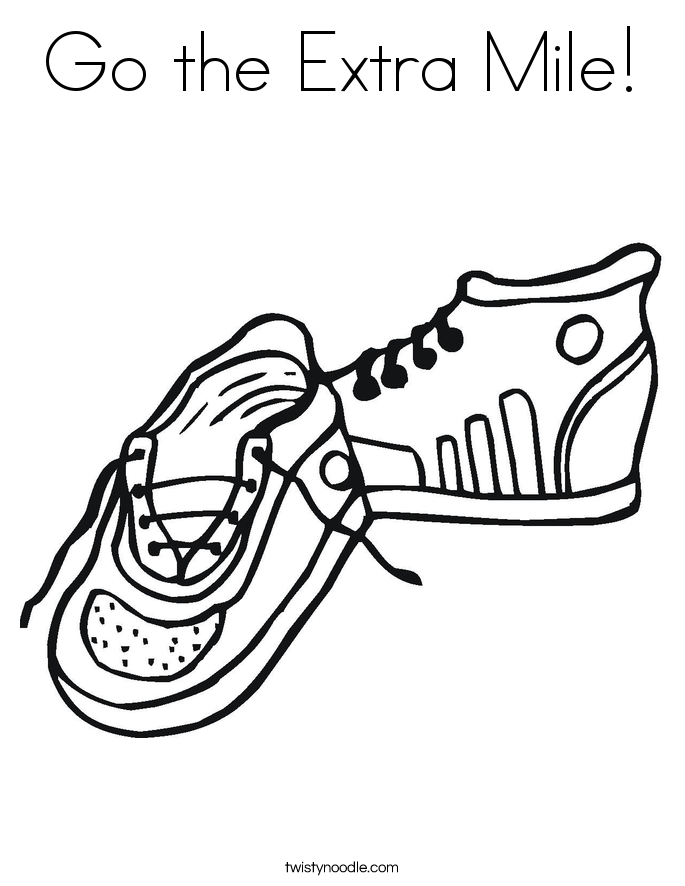 Go the Extra Mile! Coloring Page