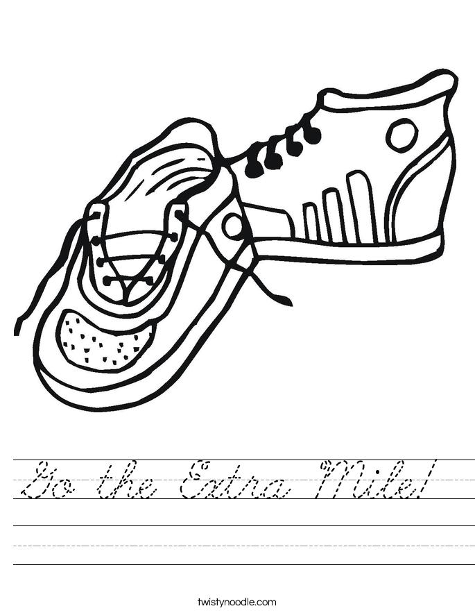 Go the Extra Mile! Worksheet