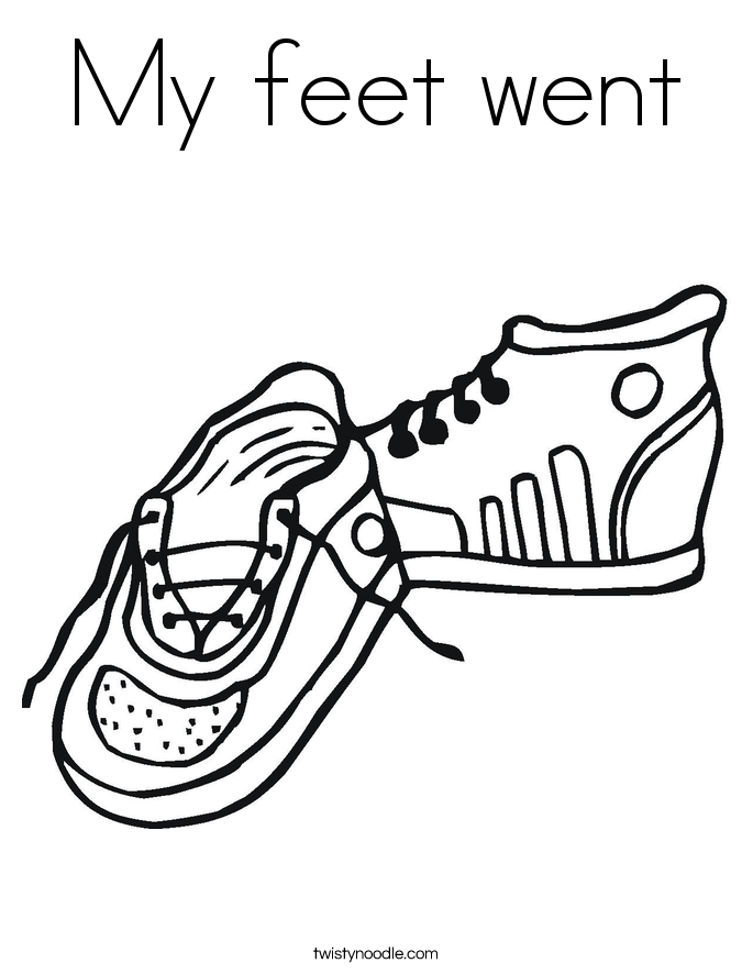 My feet went Coloring Page