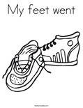 My feet wentColoring Page