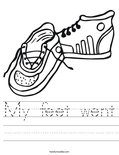 My feet went Worksheet