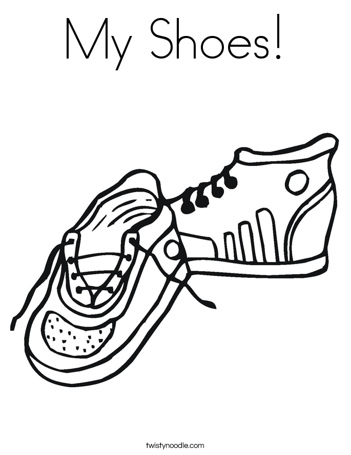 My Shoes! Coloring Page