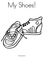 My Shoes Coloring Page