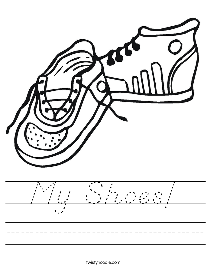 My Shoes! Worksheet