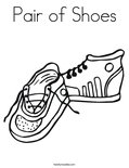 Pair of Shoes Coloring Page