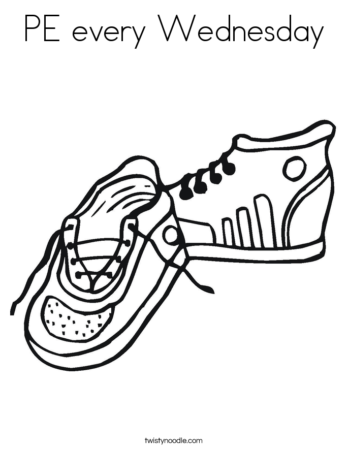 PE every Wednesday Coloring Page