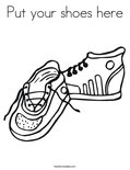Put your shoes hereColoring Page