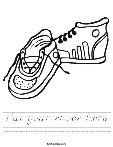 Tennis Shoes Worksheet