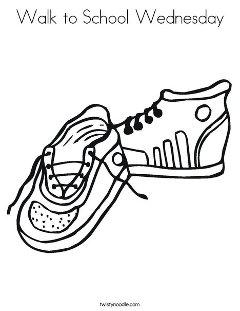 Tennis Shoes Coloring Page