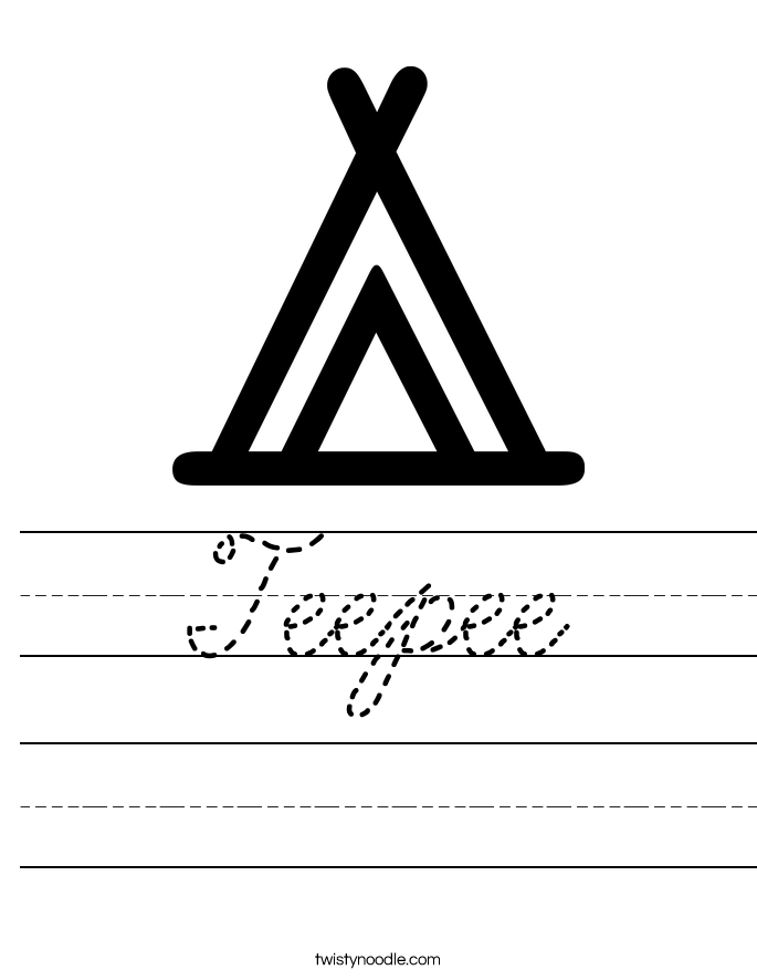 Teepee Worksheet