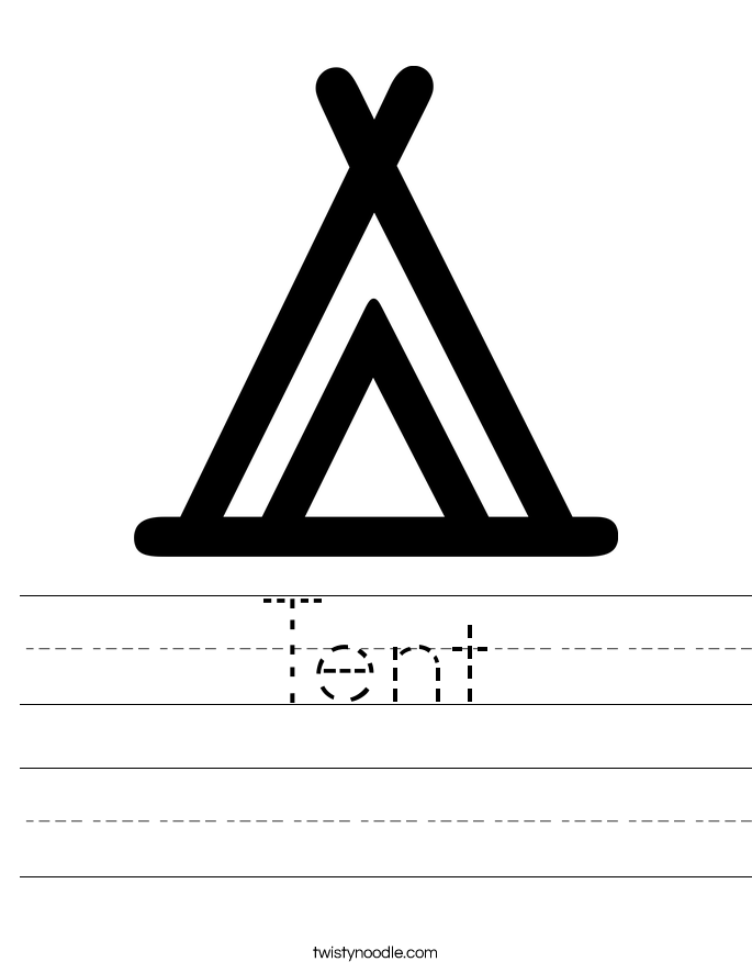 Tent Worksheet