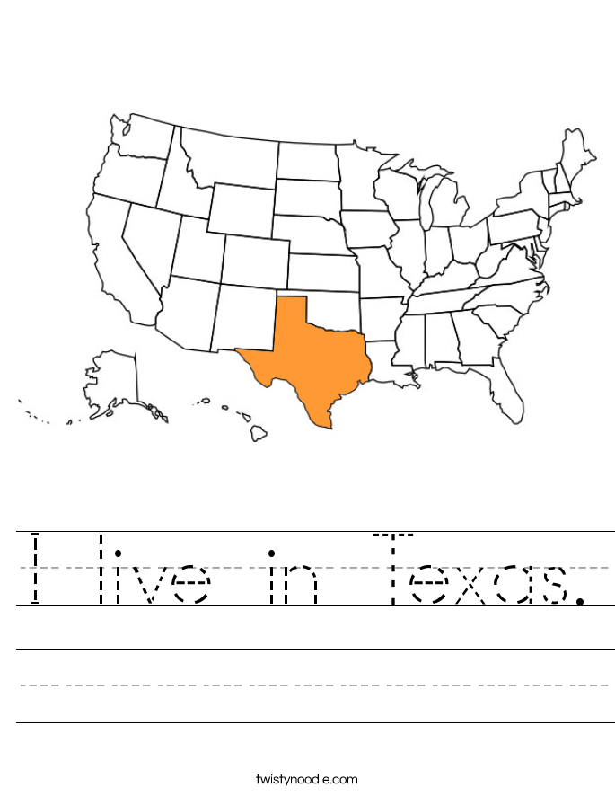 I live in Texas. Worksheet