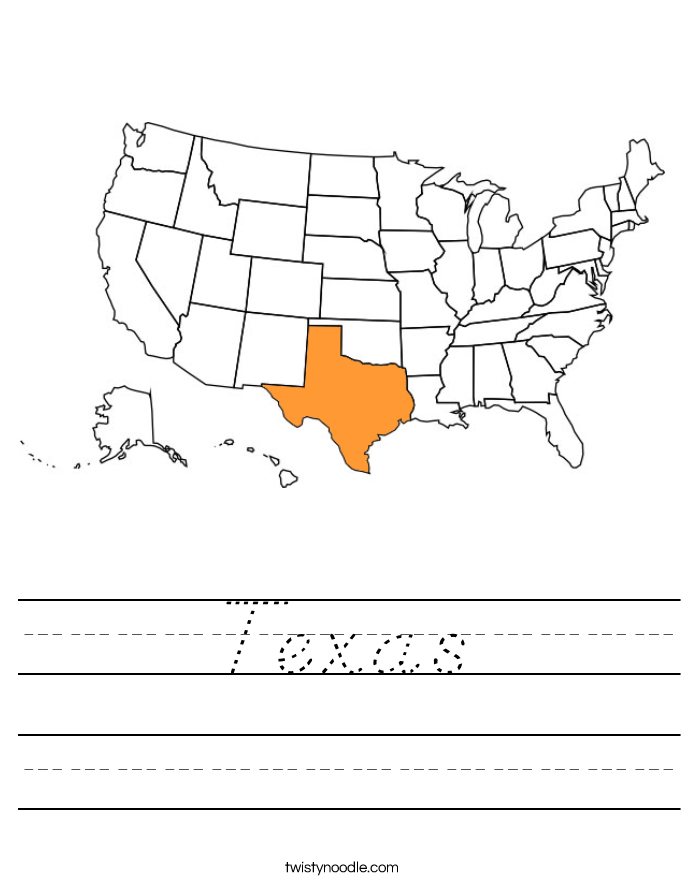 Texas Worksheet