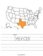 Texas Handwriting Sheet