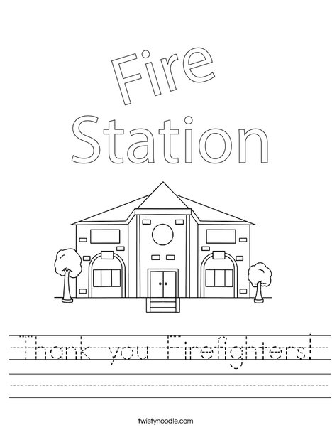 Thank you Firefighters! Worksheet