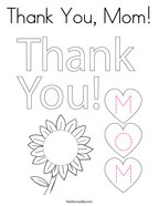 Thank You, Mom Coloring Page