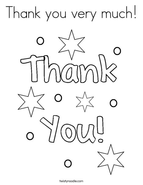 Thank you very much! Coloring Page